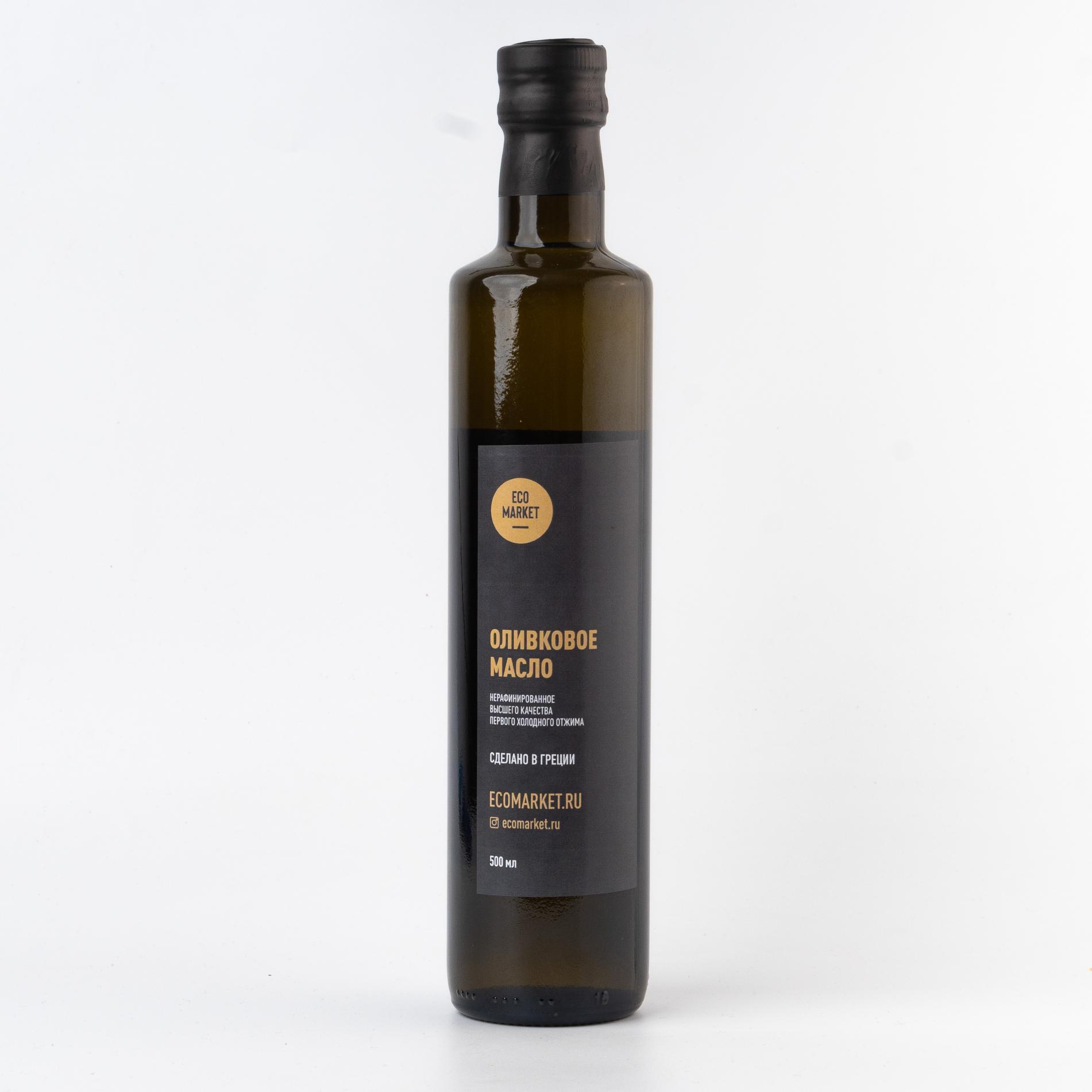 Оливковое масло Ecomarket.ru Extra Virgin, стекло - 500 мл (1 шт)