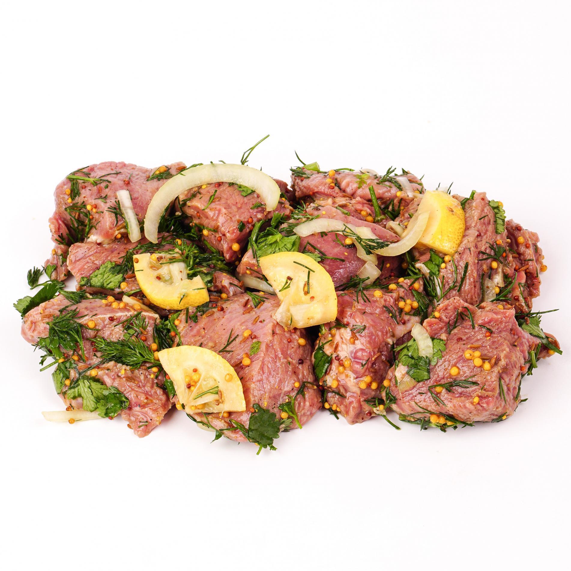 Шашлык из говядины в горчичном маринаде, Ecomarket.ru ~ 600 г (0.6 кг)
