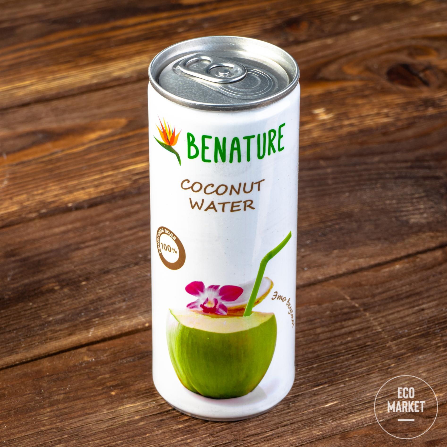 Кокосовая вода, Benature - 250 мл