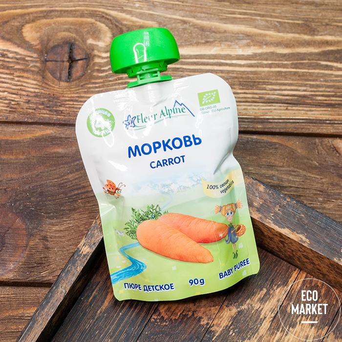 Пюре Морковь с 4 месяцев, Fleur Alpine - 90 г (1 шт)
