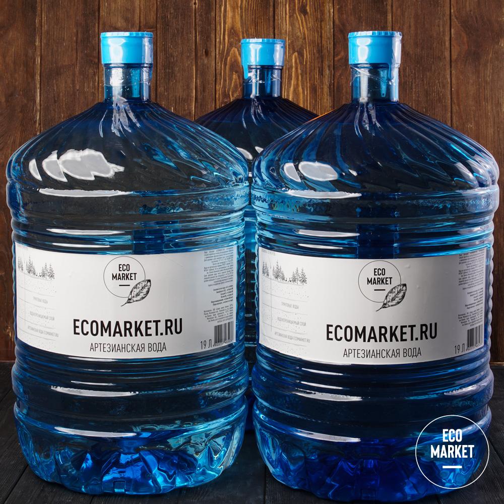 Вода Ecomarket.ru 19 л - 3 шт.