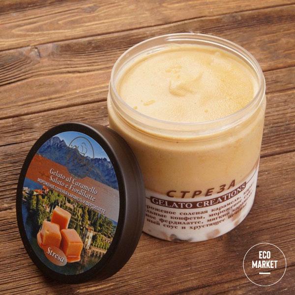 Мороженое Стреза со вкусом соленой карамели и фердилатте, Ricci Gelato ~ 420 г