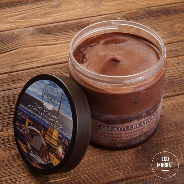 Мороженое Турин со вкусом молочного и бельгийского шоколада, Ricci Gelato ~ 420 г
