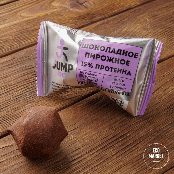Конфета орехово-фруктовая со вкусом«Шоколадное пирожное», Jump One - 30 г