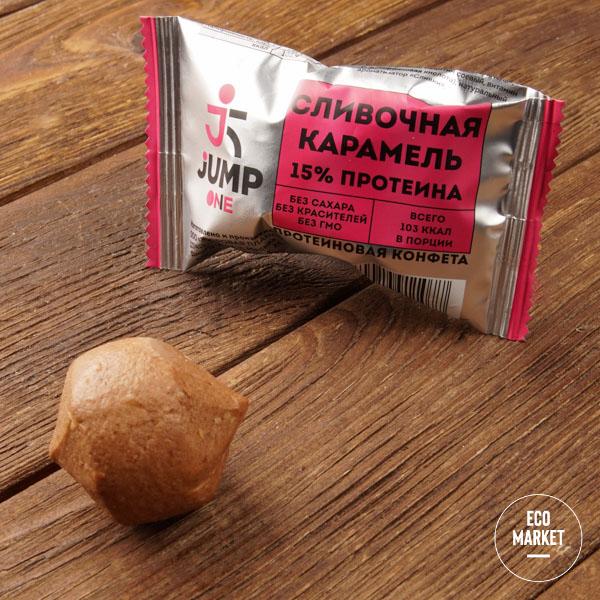 Конфета орехово-фруктовая со вкусом«Сливочная карамель», Jump One - 30 г