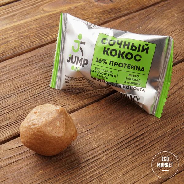 Конфета орехово-фруктовая со вкусом«Сочный кокос» Jump One, - 30 г