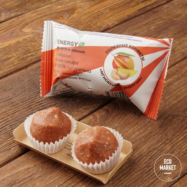 Конфеты орехово-фруктовые «Манго и кешью», Jump premium - 28 г