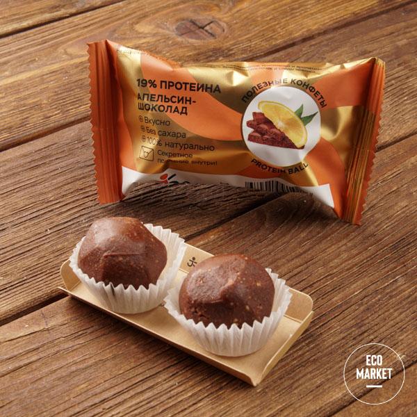 Конфеты орехово-фруктовые со вкусом «Апельсин-шоколад», Jump premium - 28 г