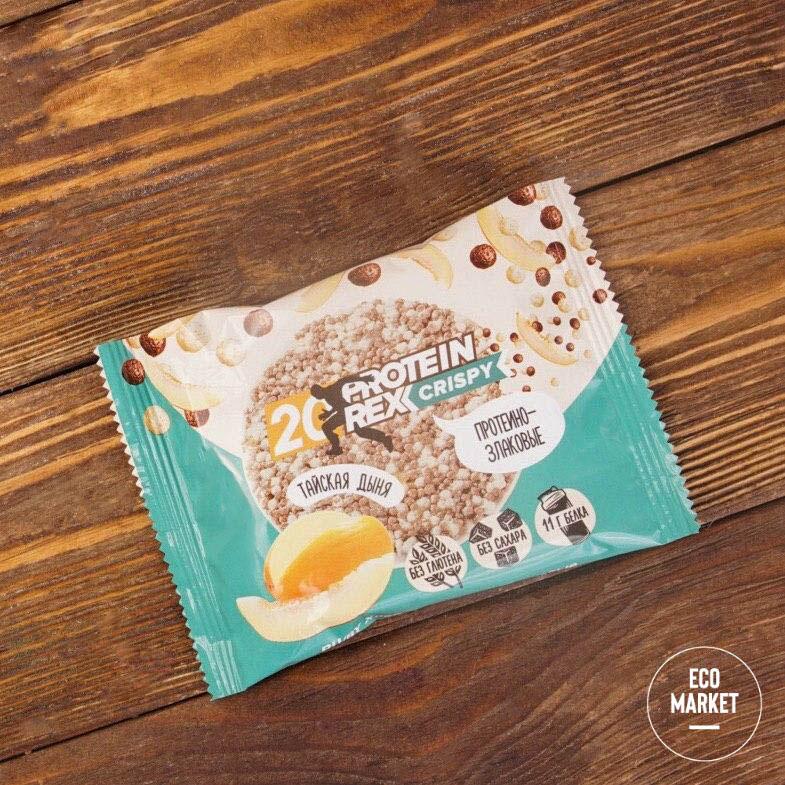 Хлебцы протеино-злаковые Тайская дыня, ProteinRex ~ 55 г