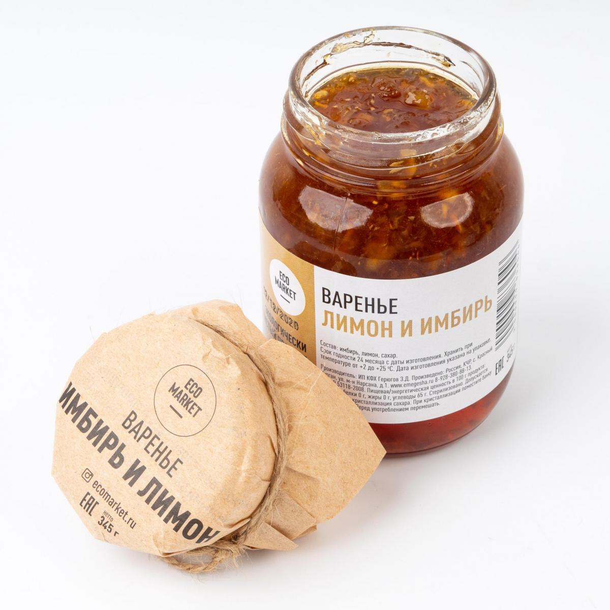 Варенье из имбиря и лимона Ecomarket.ru - 345 г