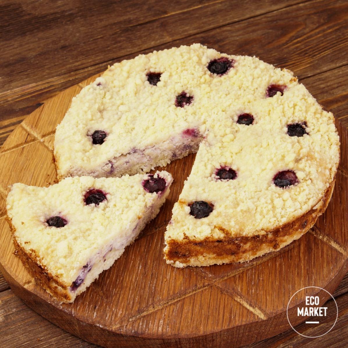 Пирог с фермерским творогом и черникой и голубикой Ecomarket.ru - 500 г