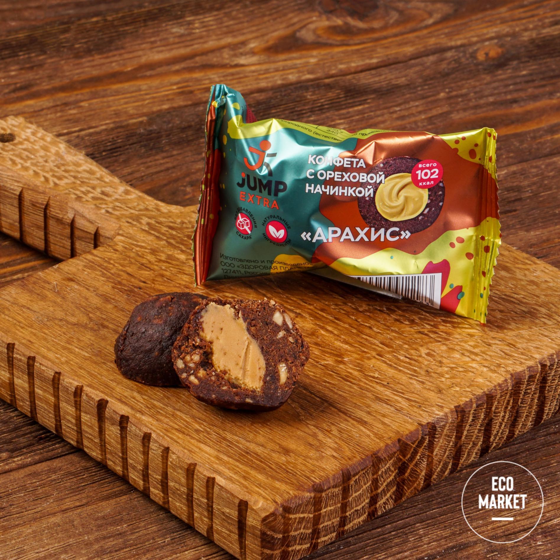 Конфета с ореховой начинкой Арахис, Jump Extra - 30 г