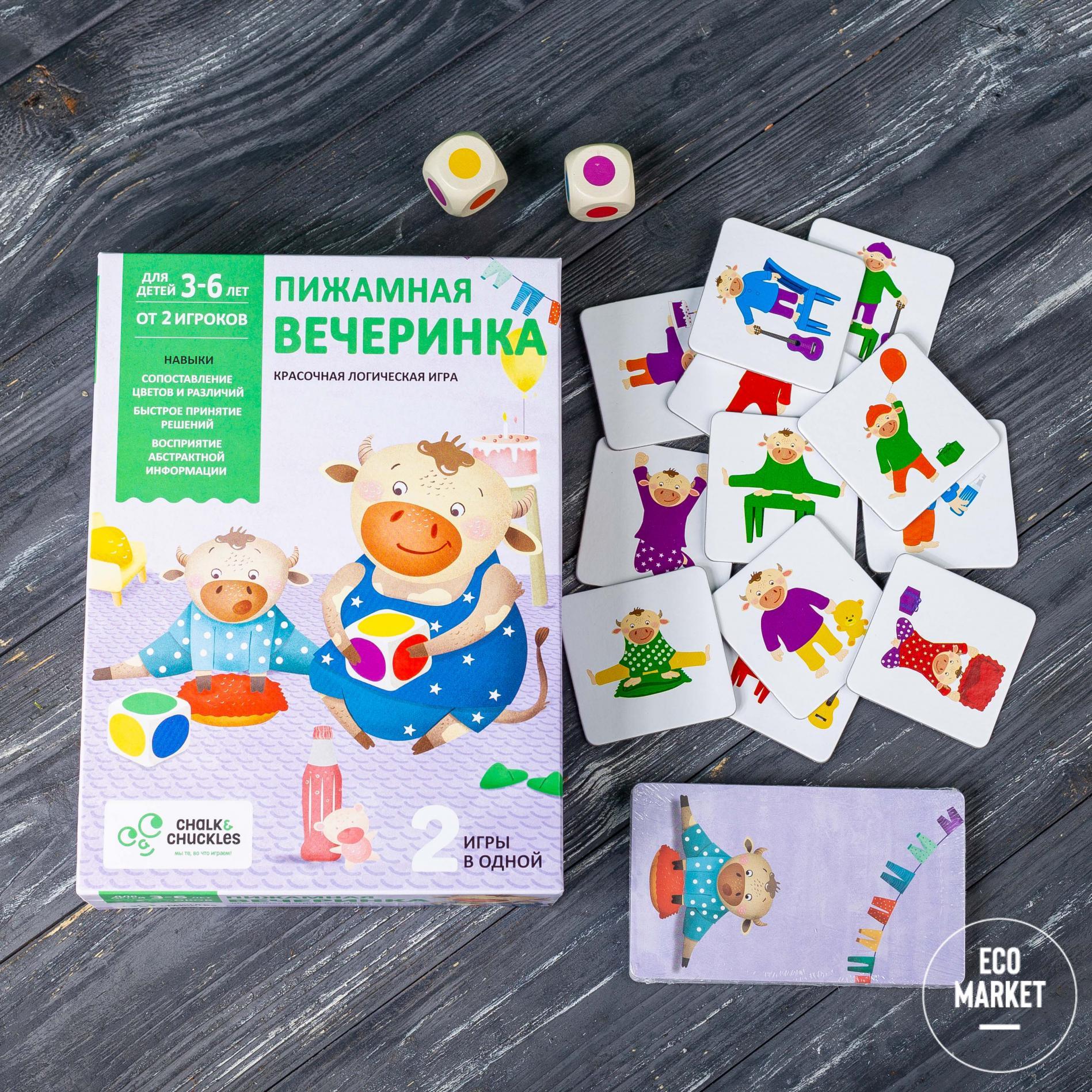Настольная игра для детей Пижамная вечеринка