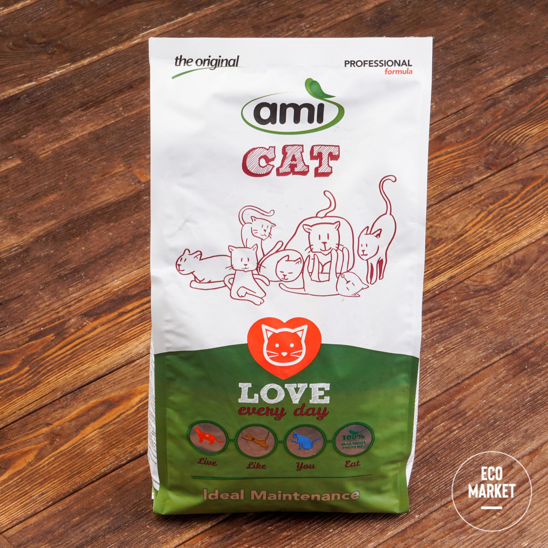 Корм растительный сухой для кошек, Ami Cat - 1,5 кг