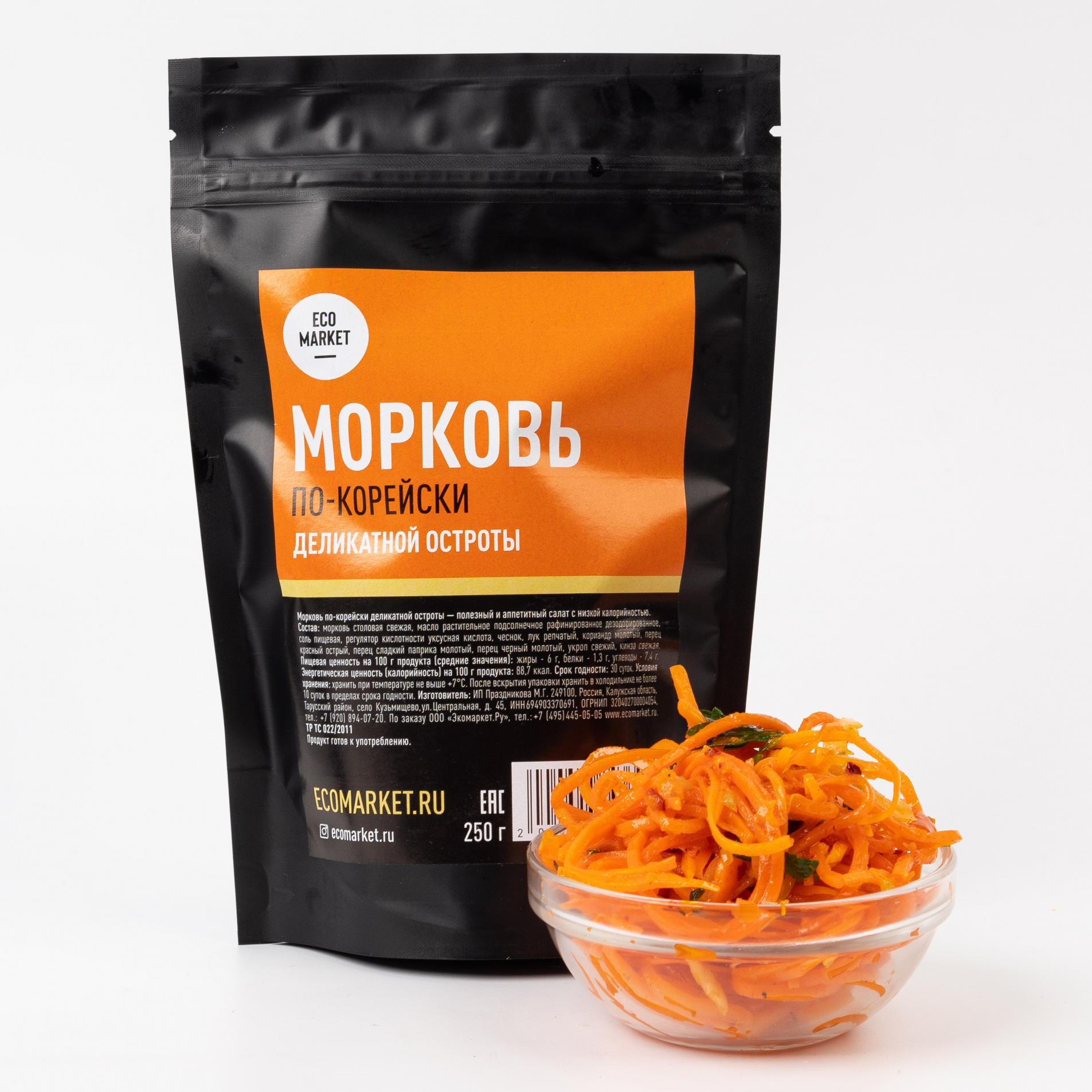 Морковь по-корейски деликатной остроты Ecomarket.ru - 250 г