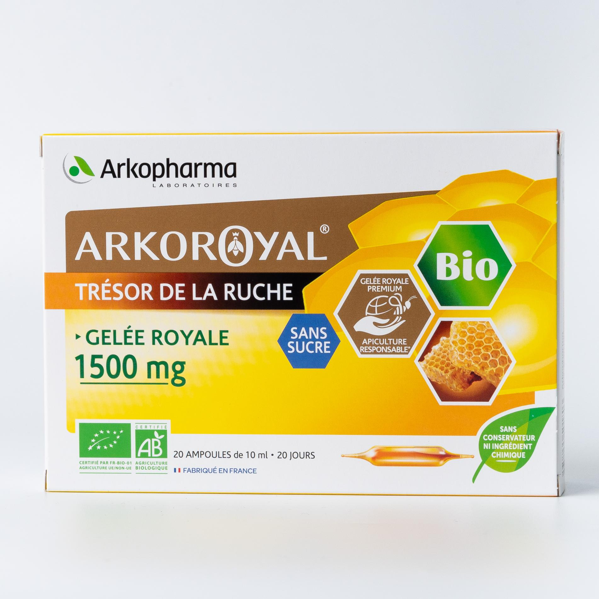 Аркоруаяль Желе Руаяль Arkopharma Маточное молочко 1500 мг 10 мл ампулы - 20 шт