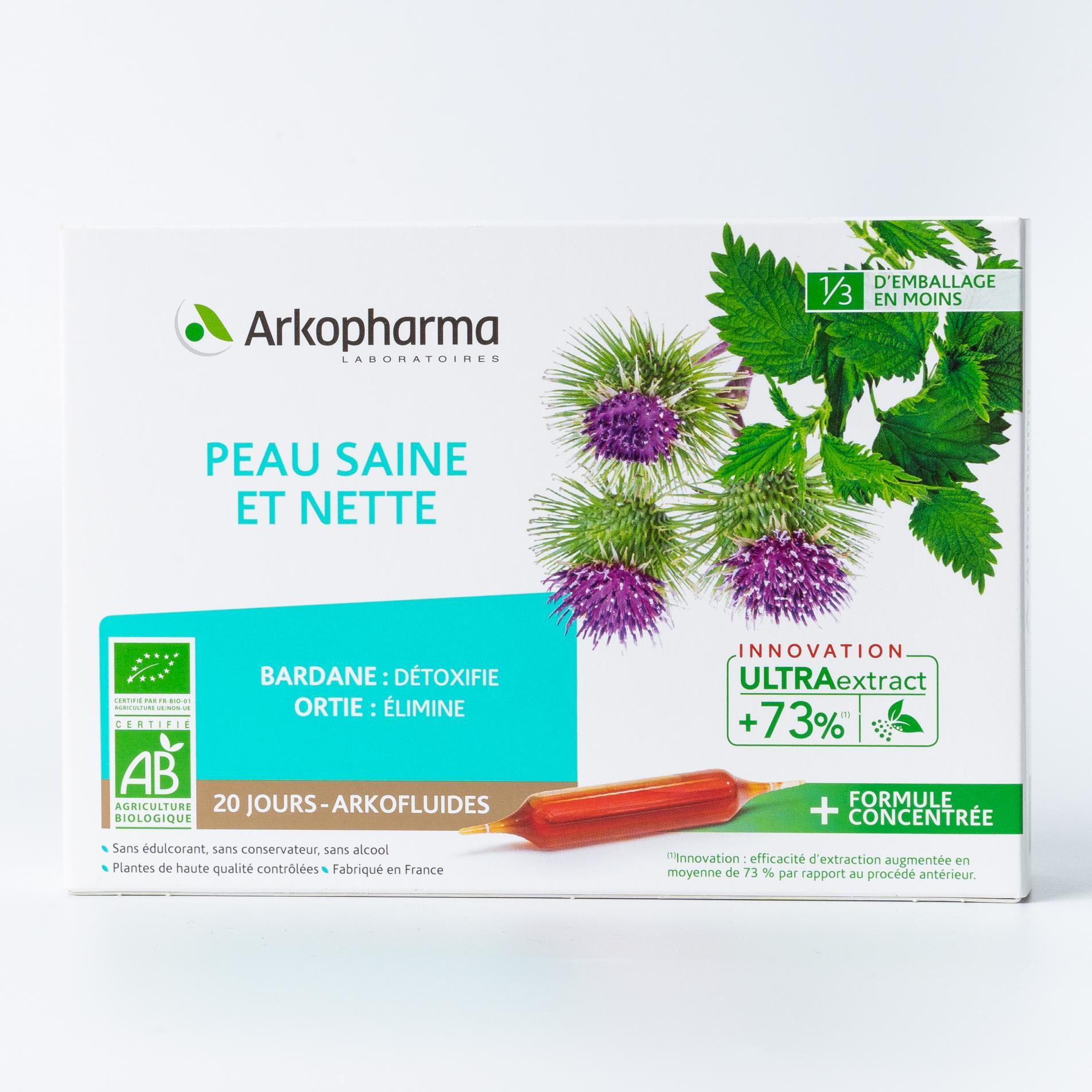 Пё Сен Э Нет Arkopharma Здоровая и чистая кожа 10 мл - ампулы 20 шт