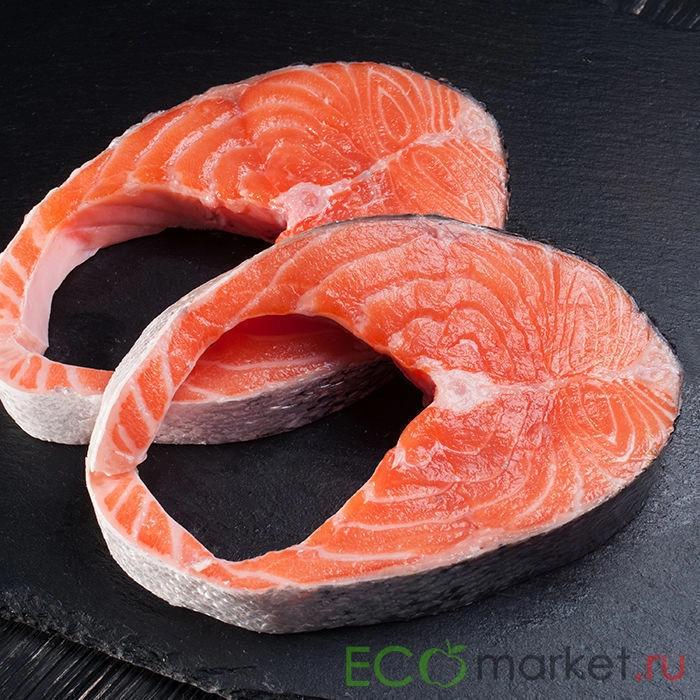 Семга стейки охл. Ecomarket.ru ~ 800 г (0.8 кг)